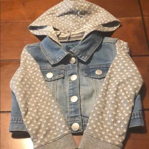 🎀5/$25🎀 Osh Kosh denim hoodie jacket